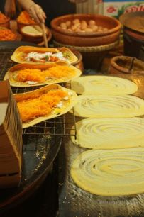 One of the many delicious types of food at the Khlong Lat Mayom market Bangkok, Thailand