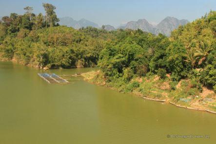 Crossing the Nam Theum river, the loop, Laos
