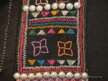 Close-up of the traditional Akha patterns, TAEC, Luang Prabang, Laos