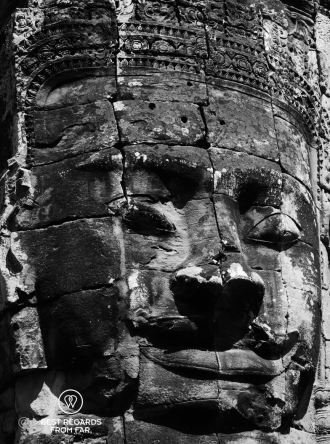 The smile of Angkor at the Bayon temple, Angkor, Cambodia