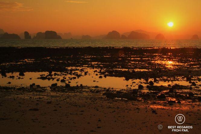 Sunrise on the stunning setting of Ko Yao Noi, Thailand