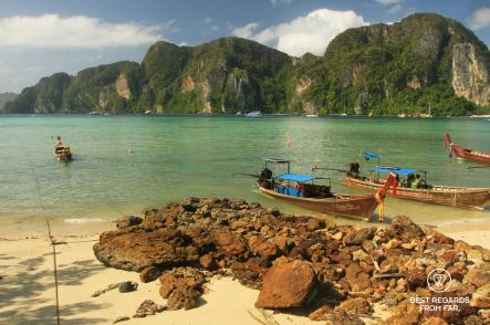 The stunning Tonsai bay while it is still quiet, Koh Phi Phi, Thailand