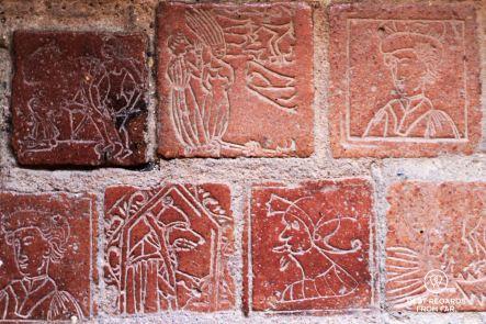 Stone carvings, château Comtal, cité de Carcassonne, France