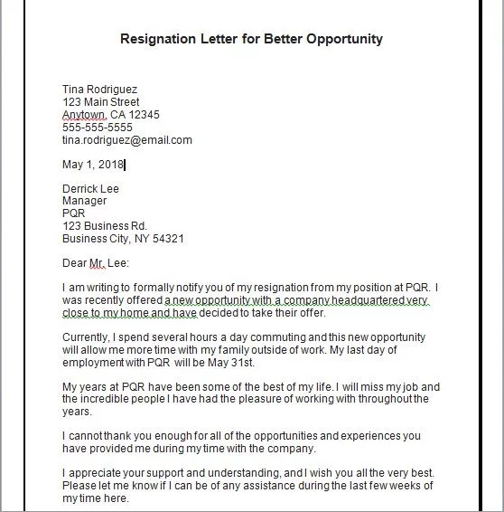 21 Resignation Letter Template With