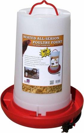 "Farm Innovators Model HPF-100 ""All-Seasons"" Heated Plastic Poultry Fountain"