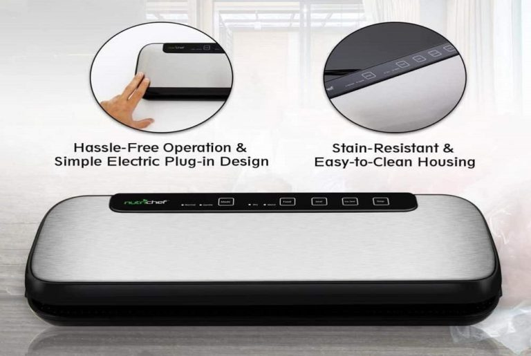 NutriChef Vacuum Sealer easy sealingbestreviewstar.com