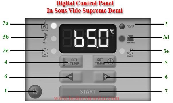 control panel sous vide supreme demi