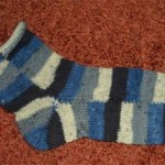 Wild gestreifte Socken