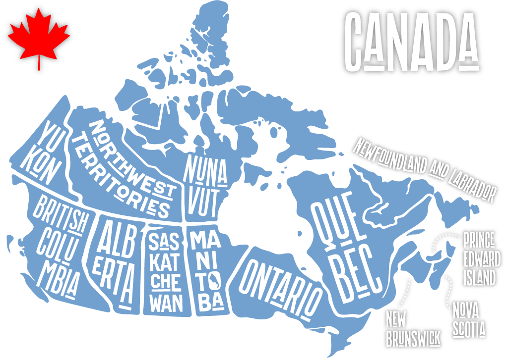 Be-Strong Canadian Provices Representative Map