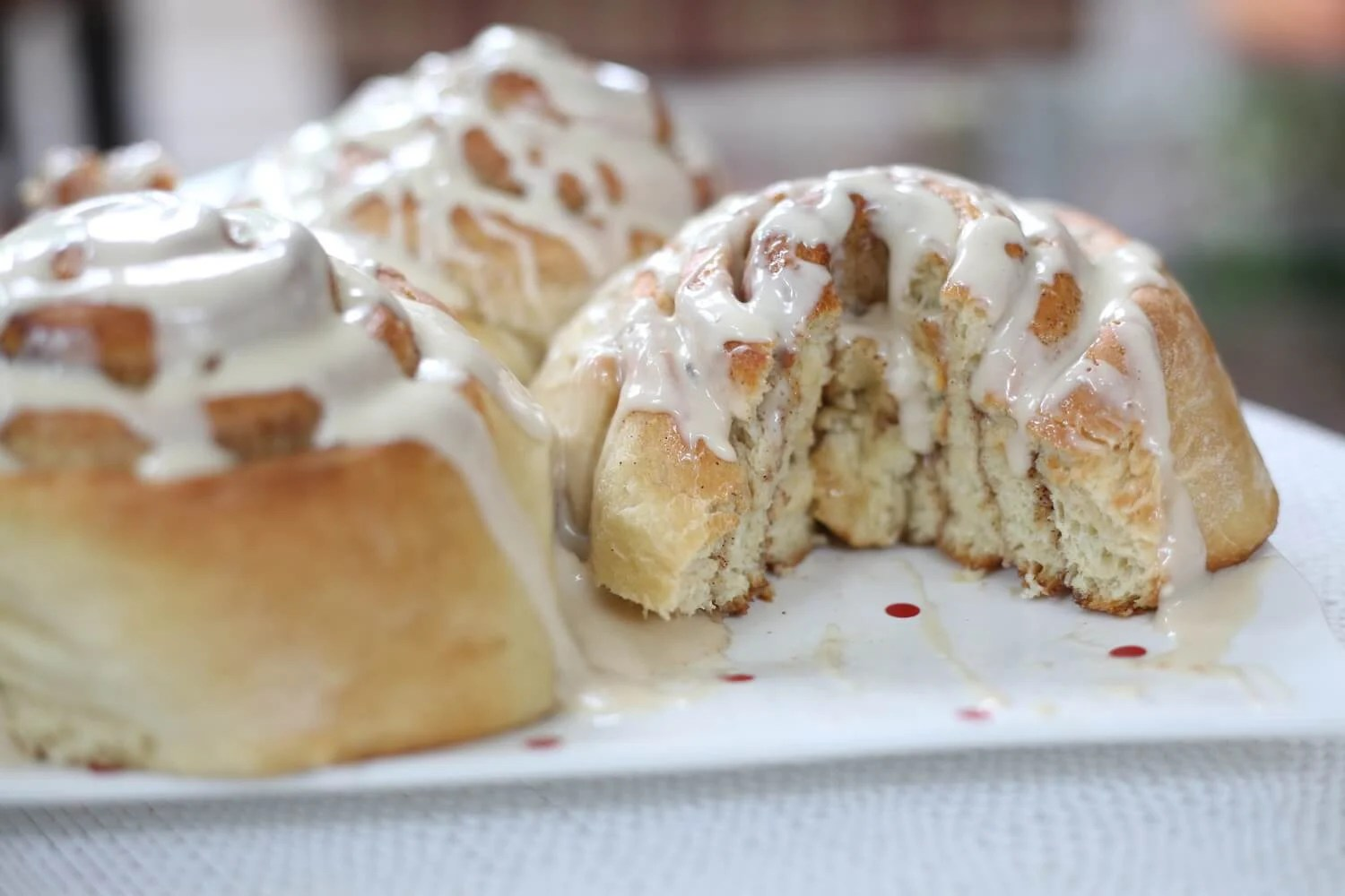 Gooey Cinnamon Rolls with Maple Frosting | What Molly Made
