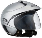 Studds Marshall SUS MOFH SGRYL Open Face Helmet Silver