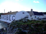 Exterior shot of the Ardbeg distillery