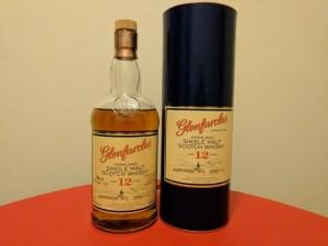 Glenfarclas 12 bottle on a table