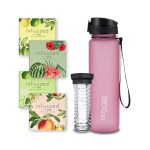 02 Infuuzed + Trinkflasche 1l - Rose