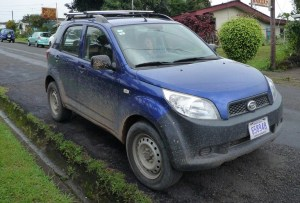 The favorite Costa Rica rental car - the Daihatsu Bego