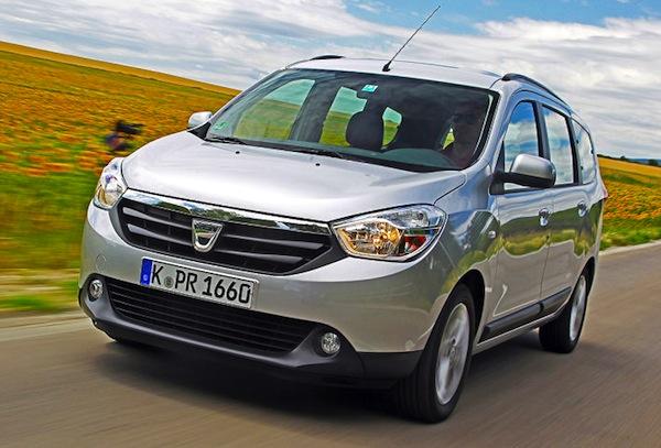 Dacia Lodgy Romania January 2013. Picture courtesy of Auto Bild