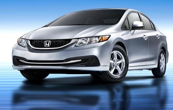 USA November 2012 Honda Civic 1 Passenger Car Hits Highest