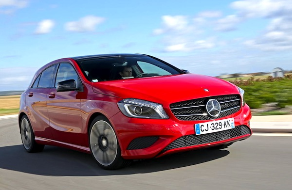 Mercedes A-Class France September 2013. Picture courtesy of largus.fr