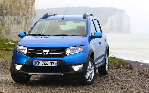 Dacia Sandero Romania February 2013. Picture courtesy of auto-mag.com