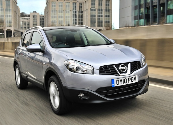 Nissan Qashqai UK January 2013