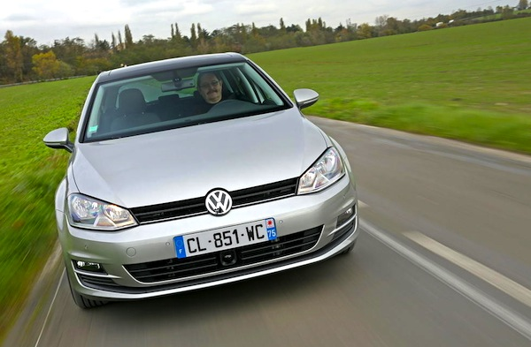 VW Golf France February 2013. Picture courtesy of L'Argus