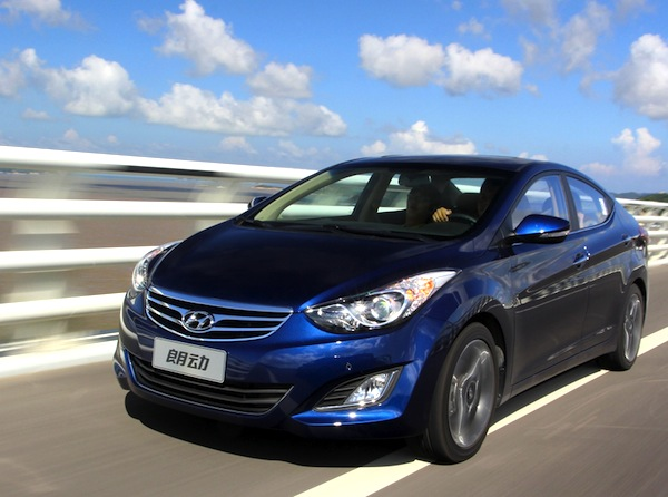 Hyundai Elantra World May 2013. Picture courtesy of www.auto.sina.com.cn