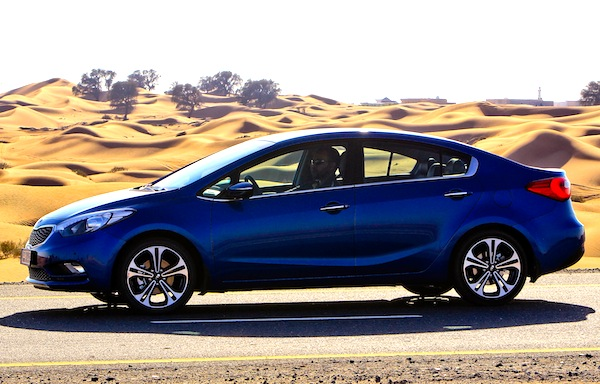 Kia Cerato Saudi Arabia January 2013. Picture courtesy of uae.yallamotor.com