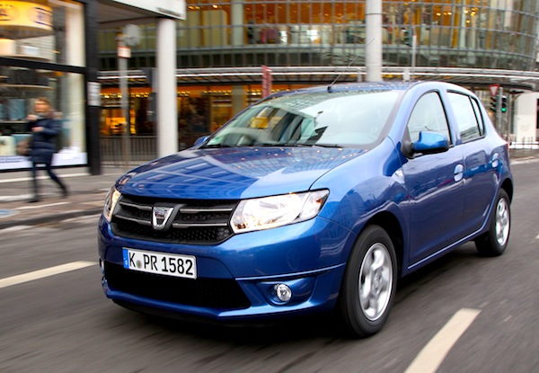 Dacia Sandero Germany March 2013. Picture courtesy of autozeitung.de