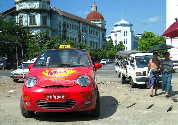 Chery QQ Myanmar 2012. Picture by Ryusuke Ikeda
