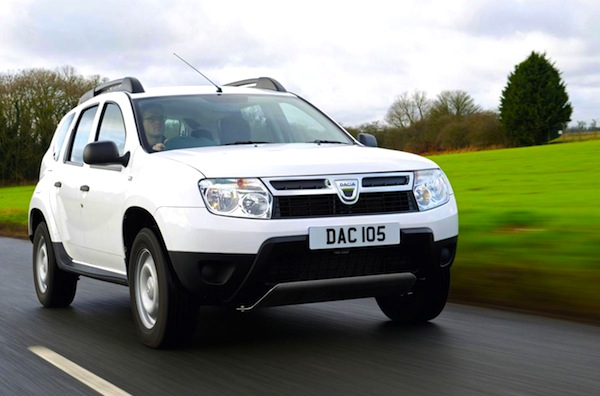 Dacia Duster UK March 2013. Picture courtesy of frontseatdriver.co.uk