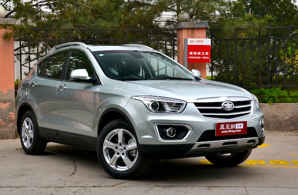 FAW Besturn X80 China April 2013. Picture courtesy of auto.ifeng.com