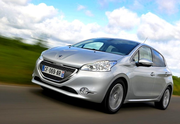 Peugeot 208 UK January 2013. Picture courtesy of L'Argus
