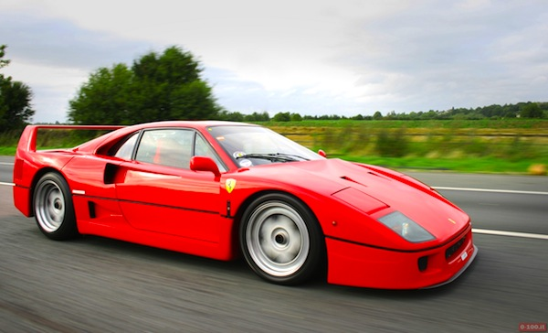 Ferrari F40. Picture courtesy of 0-100.it