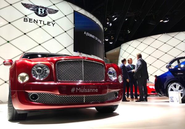 2 Bentley Mulsanne Frankfurt Auto Show September 2013