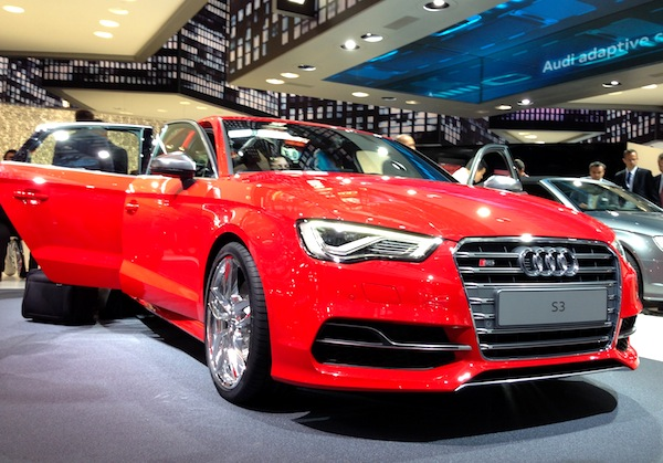 Audi S3 Limousine Frankfurt Auto Show September 2013