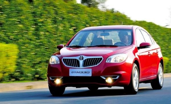 Brilliance H330 China August 2013. Picture courtesy of bitauto.com