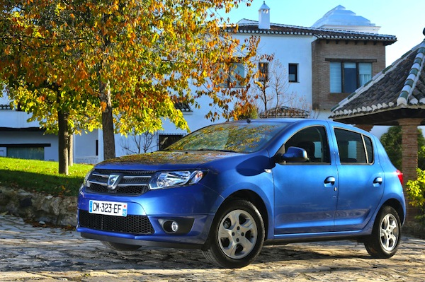 Dacia Sandero France August 2013. Picture courtesy of largus.fr