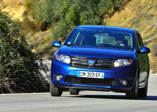 Dacia Sandero Spain August 2013. Picture courtesy of largus.fr