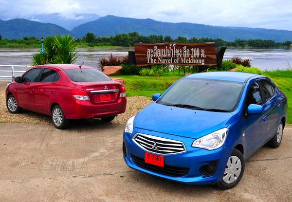 Mitsubishi Attrage Thailand July 2013