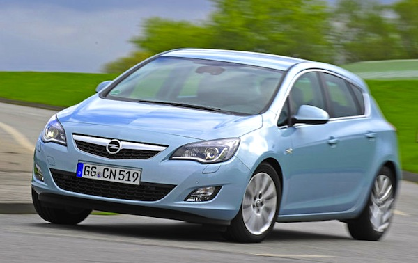 Opel Astra Germany August 2013. Picture courtesy of autobild.de