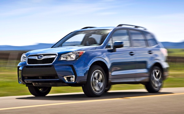 Subaru Forester USA August 2013. Picture courtesy of motortrend.com