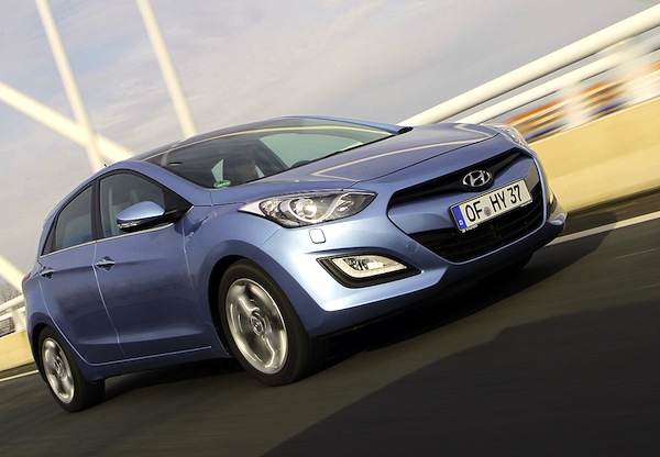 Hyundai i30 Germany September 2013. Picture courtesy of autobild.de