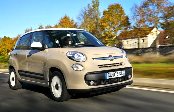Fiat 500L Spain July 2014. Picture courtesy of largus.fr