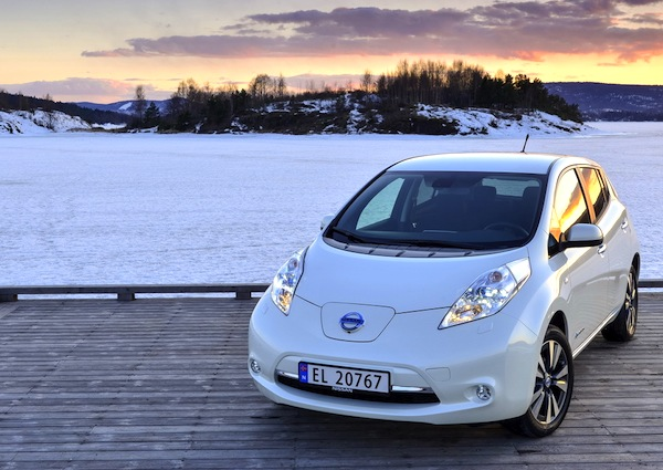 Nissan Leaf Norway October 2013. Picture courtesy of largus.fr