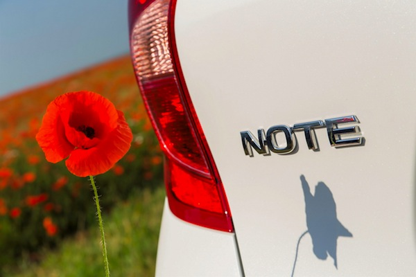 Nissan Note Italy October 2013. Picture courtesy of largus.fr