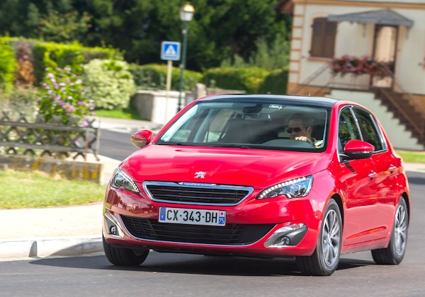 Peugeot 308 France February 2014. Picture courtesy of largus.fr