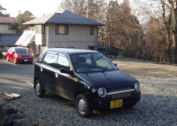 4 Suzuki Alto C2 Honda Fit Nagano Japan November 2013. Picture courtesy of Stephen Bloom