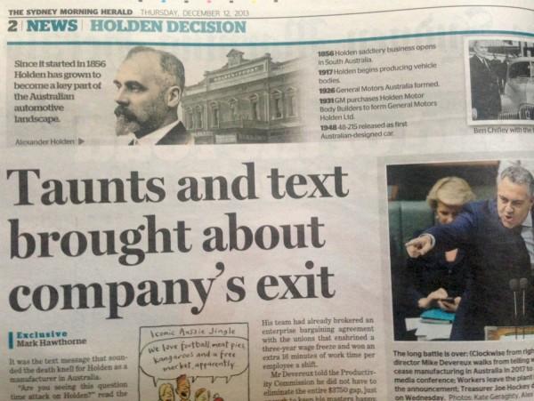 The Sydney Morning Herald 12 Dec 2013