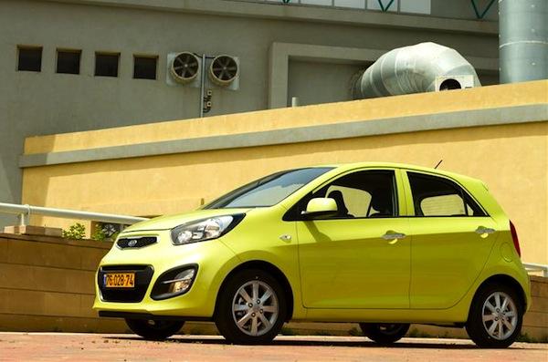 Kia Picanto Israel 2013. Picture courtesy of auto.co.il