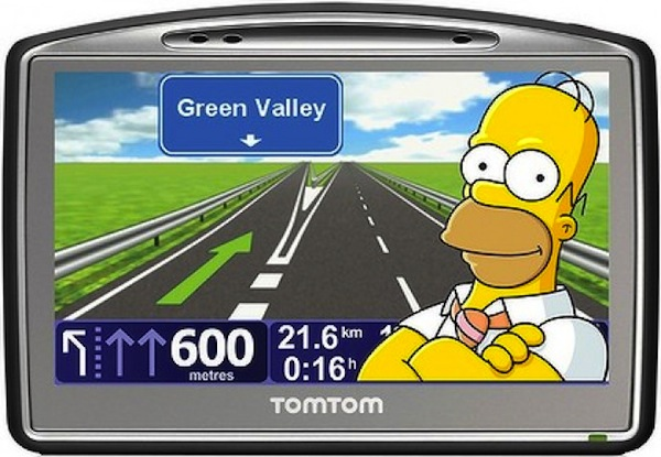Homer Simpson sat nav. Picture courtesy of www.t3.com.au